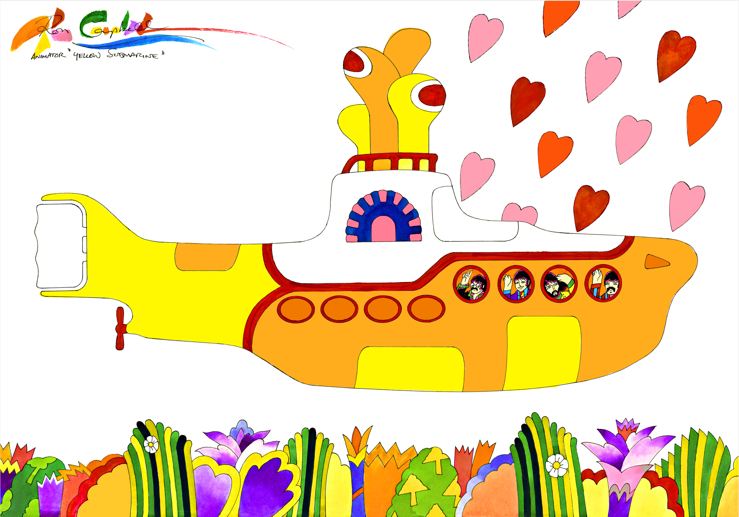 Beatles Yellow Submarine Animator Ron Campbell comes to The Modbo and S.P.Q.R.!