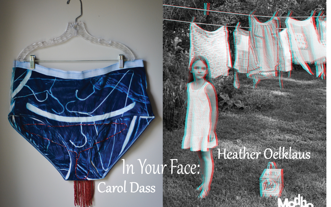 July's First Friday at The Modbo: In Your Face, New Works by Carol Dass and Heather Oelklaus